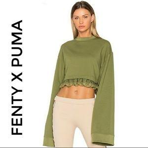 FENTY X PUMA Olive Branch Cropped Sweatshirt